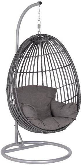 Hangstoel Egg Wit.Garden Impressions Hangstoel Panama Swing Chair Egg Donker Grijs